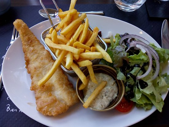 Fish Chips Picture Of Le Fou De Bassan Pleneuf Val Andre