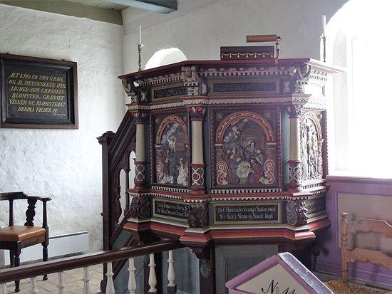 Mandø Kirke: pulpito