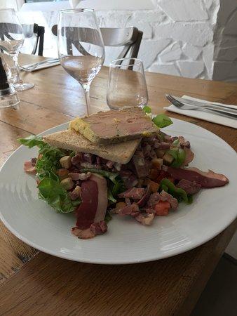 Salade Gourmande avec foie gras fait maison... Ô Patio !
