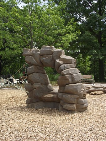 MA - BROOKLINE - COREY HILL PARK - PLAYGROUND #4 - ARTIFICIAL ROCKS FOR CLIMBING