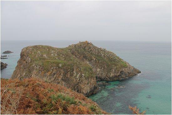 Ferrol, Spanien: Pena Lopesa. Emplazamiento de un antiguo castro costero. Existen numerosas leyendas sobre el lug