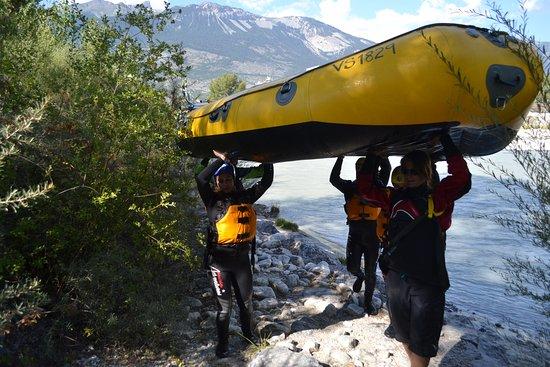 Salgesch, Schweiz: Retour à la base