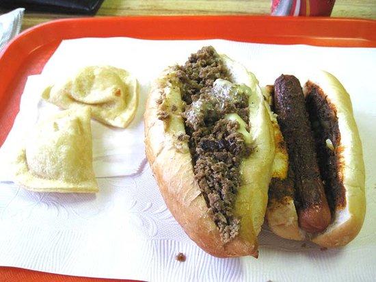 Trexlertown, PA: Small Order of Pierogis, a Cheesesteak, and a Yocco-Dog