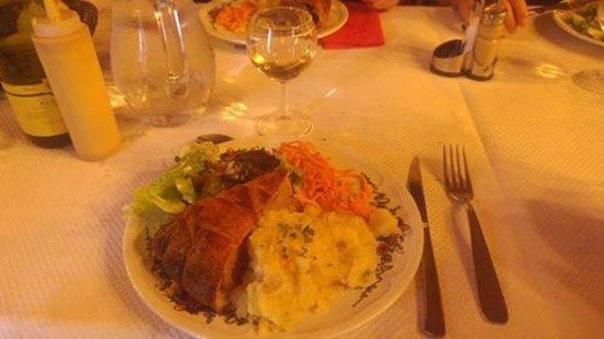 Sondernach, France: the famous tourte with crudités pommes de terre