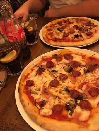 Marston Green, UK: Pepperoni, Ham and Mushroom Pizza