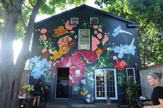 Mural On Back Building Patio Picture Of Chaval Portland Tripadvisor