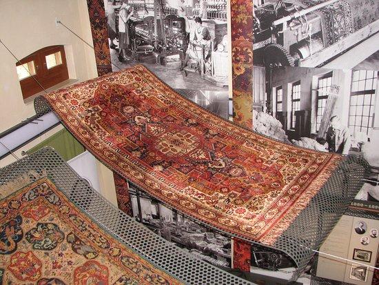 """Oelsnitz/Vogtland, Germany: """"Fliegende Teppiche"""" im Teppichmuseum auf Schloß Voigtsberg"""