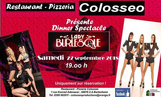 Pizzeria Restaurant Colosseo: Samedi 22 septembre 2018