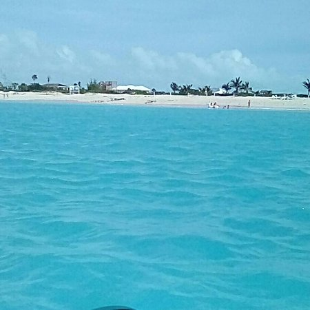 Water view of Leeward Beach.