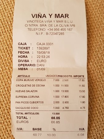 Vina y Mar Sherry Bar-Restaurante: 20180823_161453_large.jpg