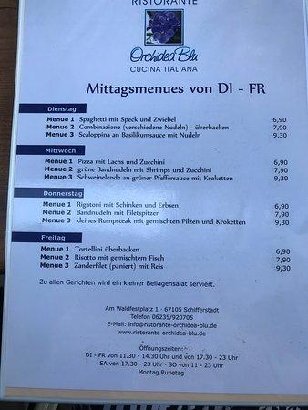 Schifferstadt, Jerman: dreifache Auswahl beim Mittagstisch