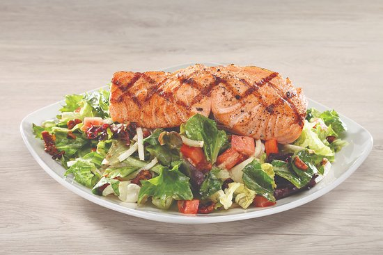 Grilled Salmon Salad Picture Of Firebirds Wood Fired Grill Oklahoma City Tripadvisor