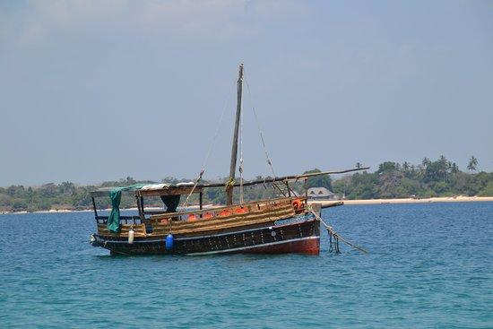 Wasini Island, Quênia: boot om te gaan snorkelen