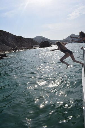 Cabo Party Fun: taking the leap haha