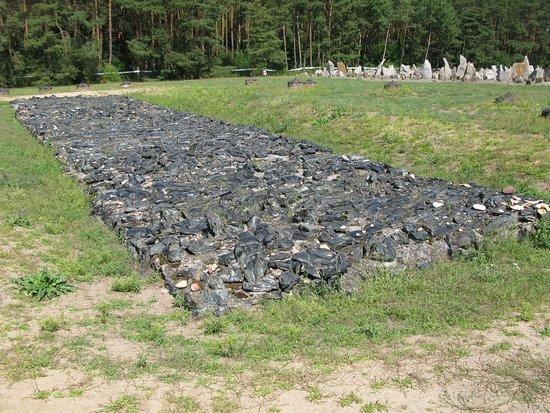 Treblinka, Polen: Representación del crematorio