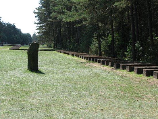 Treblinka, Polen: Representacion de la via del tren
