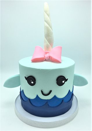 Flavor Cupcakery Bake Shop Cute Narwhal Cake