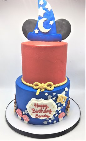 Flavor Cupcakery Bake Shop 2 Tier Fantasia Themed 60th Birthday Cake