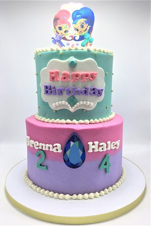 Flavor Cupcakery Bake Shop 2 Tier Shimmer And Shine Girls Birthday Cake