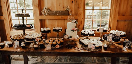 Rustic Wedding Cake And Cupcake Display Picture Of Flavor