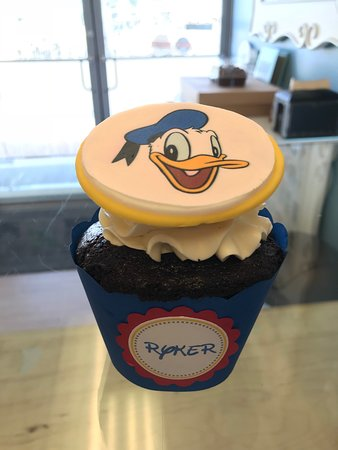 Donald Duck themed muffin size cupcake