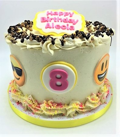 Flavor Cupcakery Emoji Themed Kids Birthday Cake