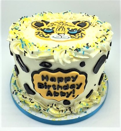 Flavor Cupcakery Cheetah Themed Kids Birthday Cake