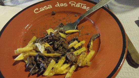 Casas Das Ratas: Iscas de figado de porco