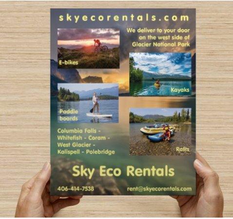 Columbia Falls, Μοντάνα: Sky Eco Rentals - Flyer