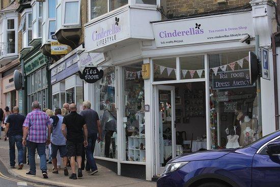 Cinderellas Tea Room and Dress Shop: on the main street