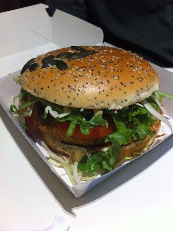 Guilers, France: Veggie burger.