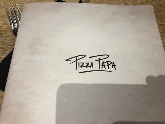 Pizza Papa : Entête de la carte
