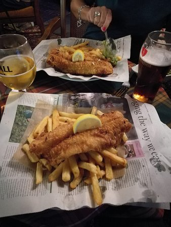 Eardisland, UK: Fish and chips