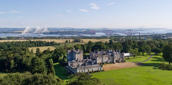 South Queensferry, UK: Dundas Castle view over the Forth River - Itago Media
