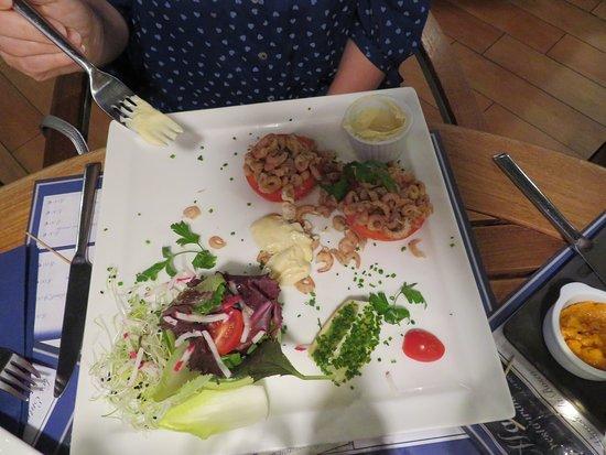 Le Marine : tomates crevettes