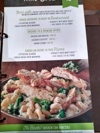 olive garden 2 for 1 menu - Olive Garden Tulsa
