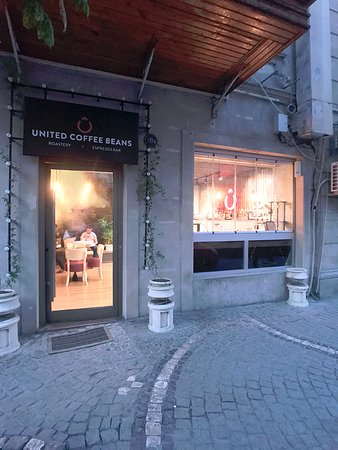 United Coffee Beans: External view of the shop.