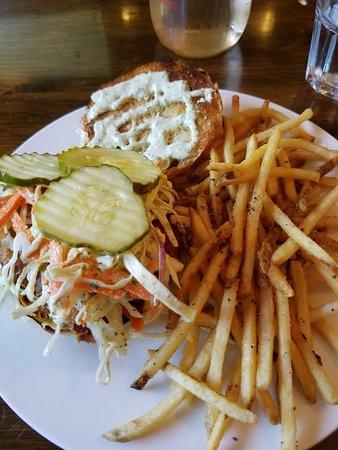Schultzville General Store & Cafe: Cod sandwich with matchstick fries