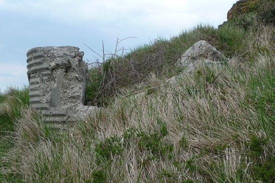 Isle of Purbeck, UK: 'Corrugated' pillbox