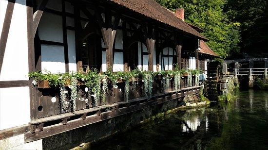 Blautopf: Alte Mühle, heute touristisch genutzt