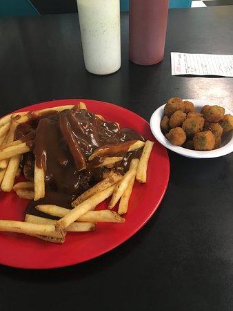 Bristow, Оклахома: Hot burger plate