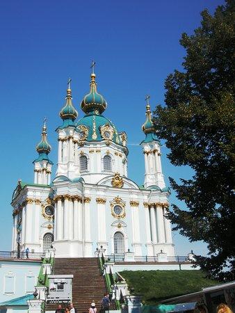 Andriyivski Uzviz: Ο Ναός του Αγίου Ανδρέα στο Κϊεβο