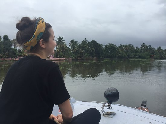 Alappuzha District, Indien: Motor boat cruise