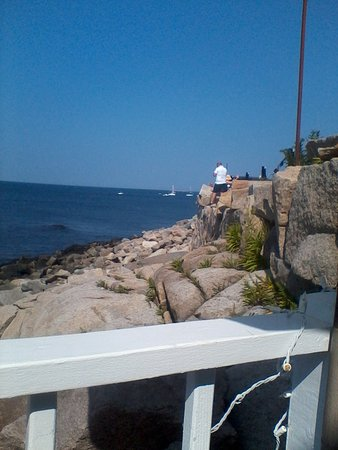 My Place by the Sea: View from the outside seating.