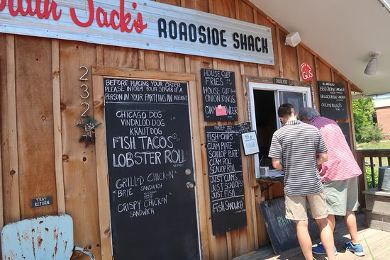 Captain Jack's Roadside Shack: The menu's on the wall