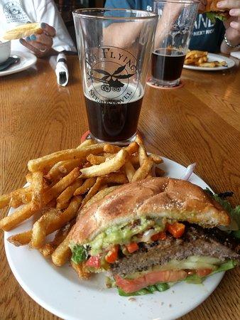 The Flying Steamshovel Gastropub & Inn: Lone Ranger burger - so good!