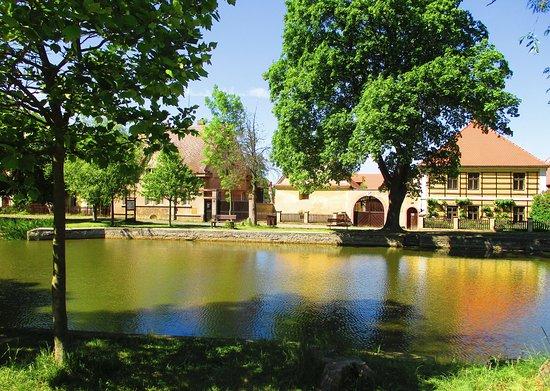 Trebiz, Republik Ceko: náves s rybníkem