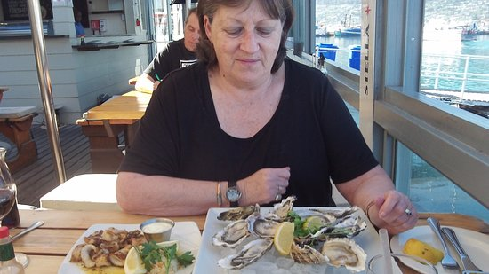 The Lookout Deck Hout Bay Restaurant, Bar & Sushi: those oysters...!