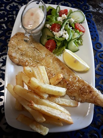 Dana Bay, South Africa: Fish, Chips and salad