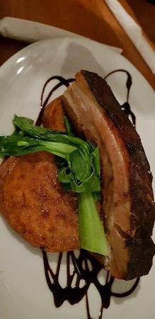 Montville Cafe Bar and Grille: Pork belly